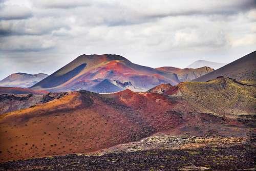 lanzarote mountains during daytime spain