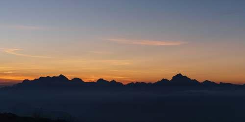 nature silhouette of mountain mountain range