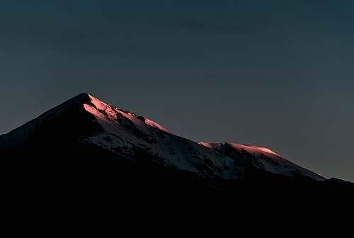 peak silhouette of mountain nature