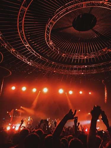 concert people watching concert crowd