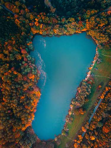outdoors aerial island view water