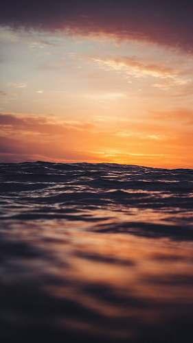 outdoors body of water under golden hour sky
