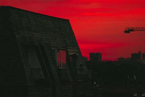 sky brick building during night outdoors