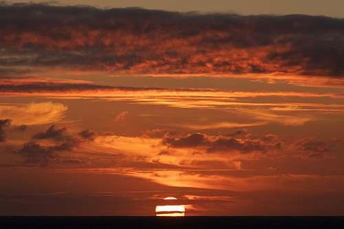 outdoors cloudy sky during sunset sky