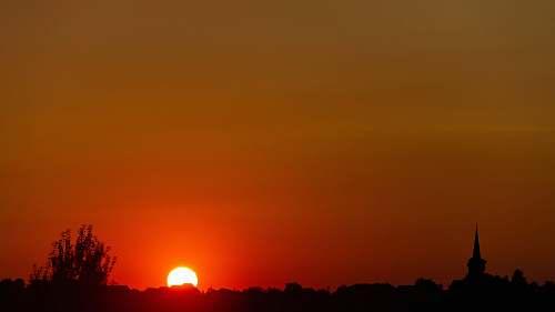 outdoors golden hour sky