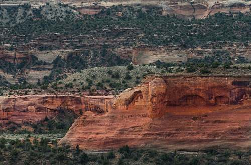 canyon landscape photography of rock formation valley