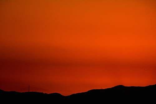 outdoors orange sky sky