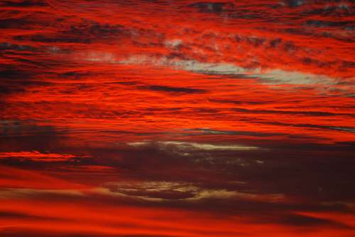 outdoors red and white clouds photo dawn