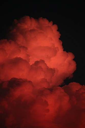 outdoors red clouds on dark sky weather