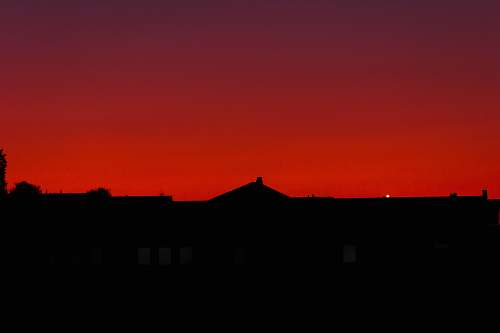outdoors silhouette of a building at sunset sunset