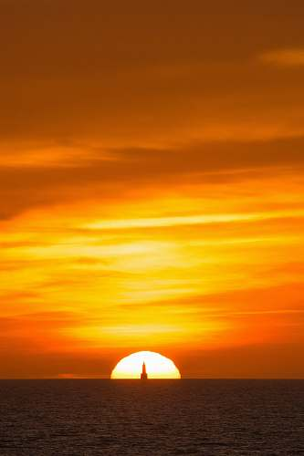 outdoors sunset on the horizon sunset