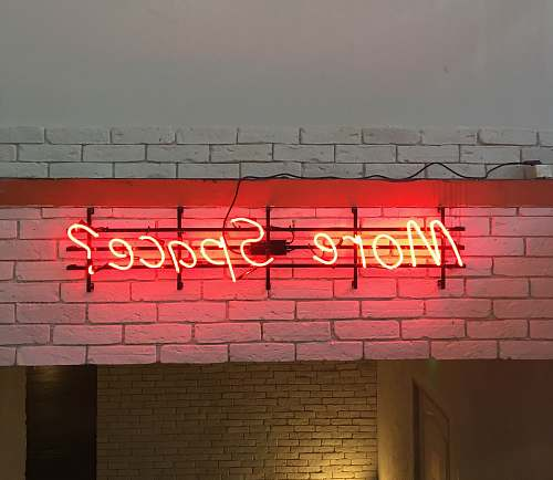 brick red More Space? LED signage sign