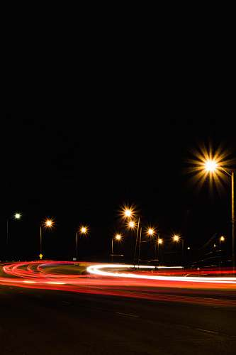 road long exposure photography of road during nighttime dark