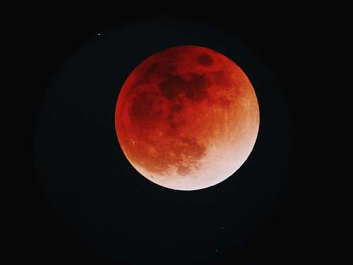 moon red moobn space