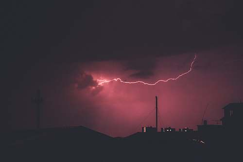 nature lightning during night time photo storm