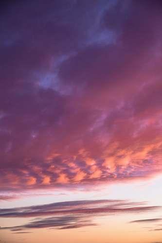 sunset nimbus clouds sky