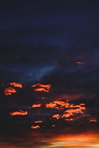 dawn orange and blue sky dusk