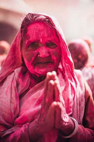 person woman celebrating Holi human
