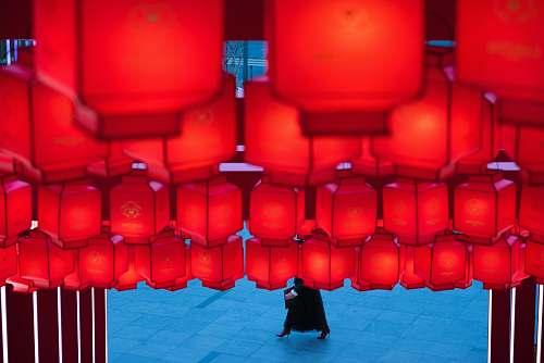 chair red hanging lantern furniture