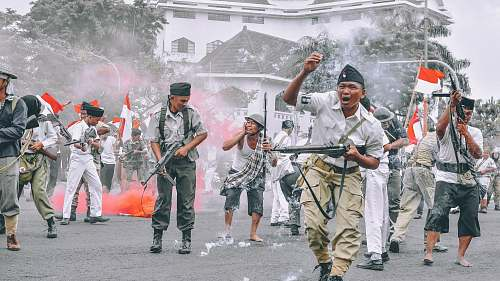 people war in Indonesia human
