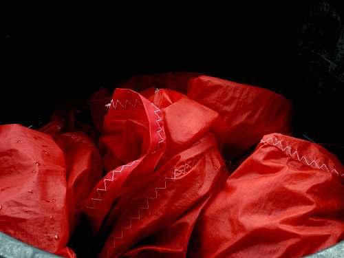 bag red textile plastic