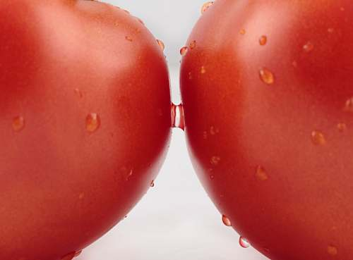 tomato water droplets on apple fruit food