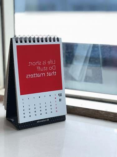 motivation spiral freestanding calendar on white surface dilkap chambers