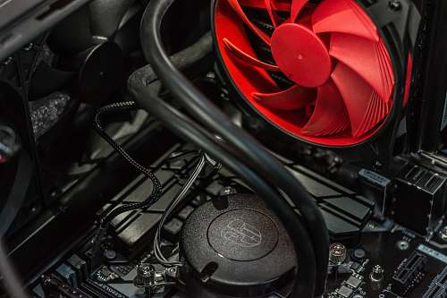 fan black CPU cooling system tech