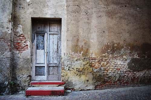 door closed French door during day wall