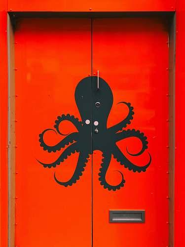 door closed red door octopus