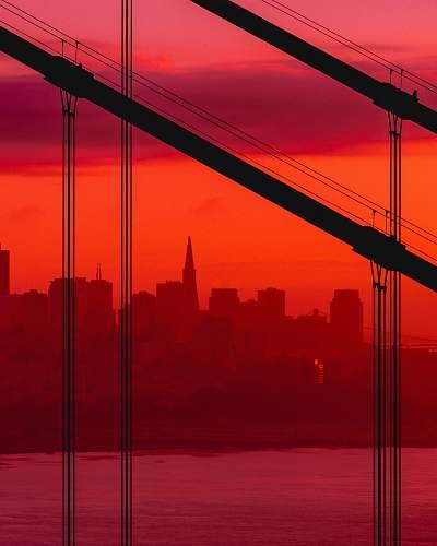 sky landmark photography of cityscape sunrise