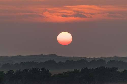 sunrise landscape photo of dawn sun