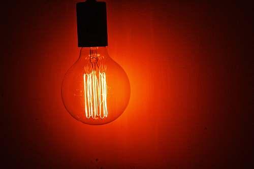 light lighted incandescent bulb lightbulb