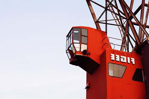 construction crane low angle photography of Figee crane controller the netherlands