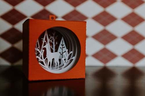 game orange and white deer ornament deer