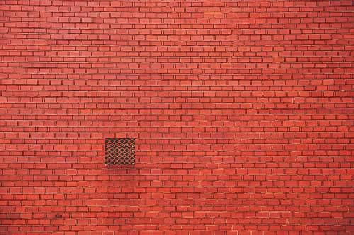 brick orange brick wall wall
