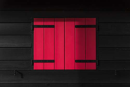 window red and black wooden window asoggetti