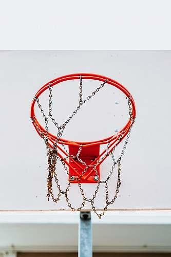 hoop red and white basketball hoop basketball