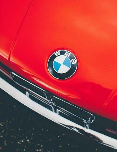 light red BMW car headlight