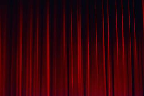 theatre red curtain curtain