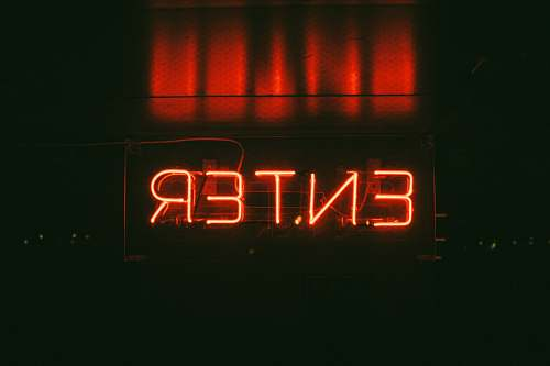 neon red Enter neon signage sign