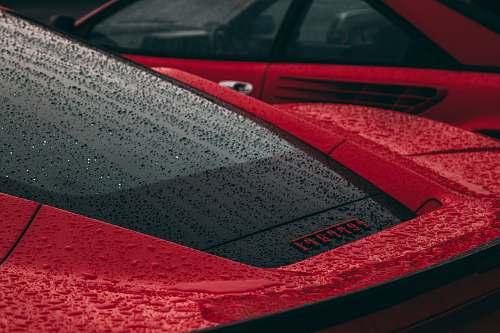 car red Ferrari super car vehicle