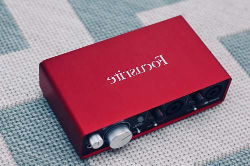 electronics red Focusrite device amplifier
