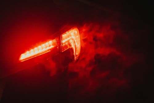 light red LED light flare