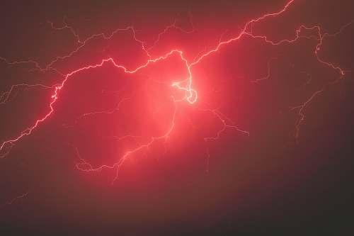 sky red lightning lightning