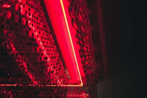 lighting red lights building