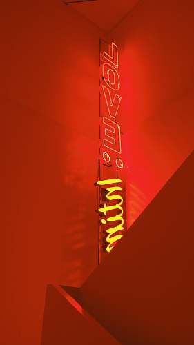 text red love neon light signage symbol