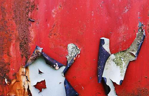 rust red paint wall