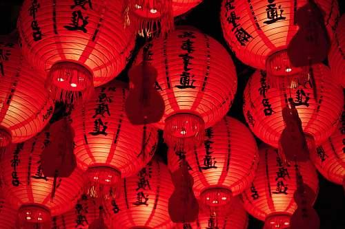 lantern red paper lanterns lamp