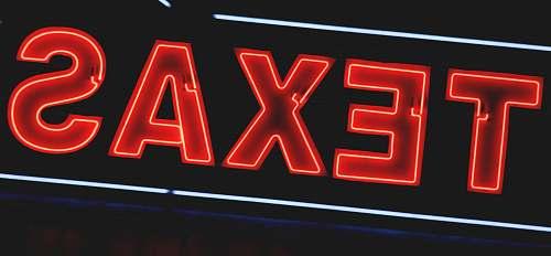 neon red Texas neon light sign light
